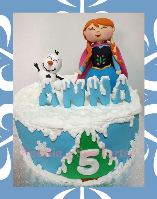 Tarta Frozen Ana 1